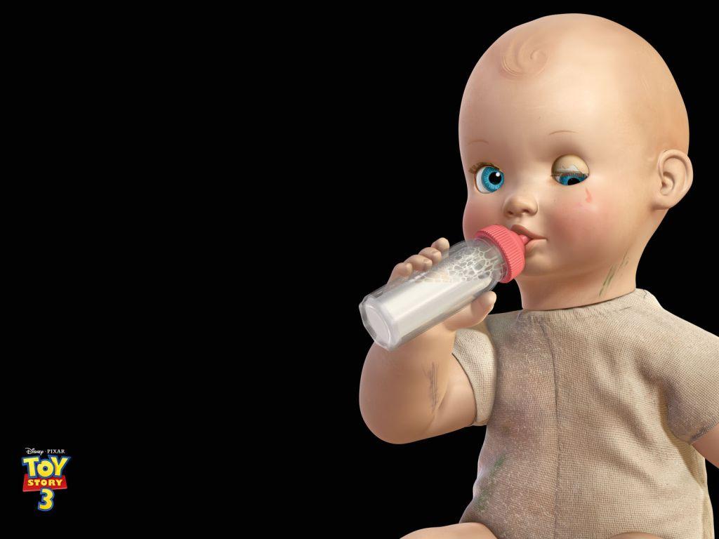 Big Baby Milk Bottle Wallpaper 1024x768