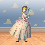 Bo Peep Portrait Cloud Wall Wallpaper