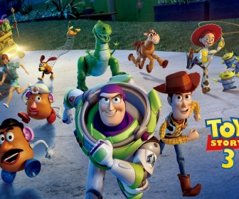 Buzz And Toy Story 3 Characters Running Wallpaper