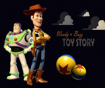 Buzz And Woody Standing Portrait Wallpaper