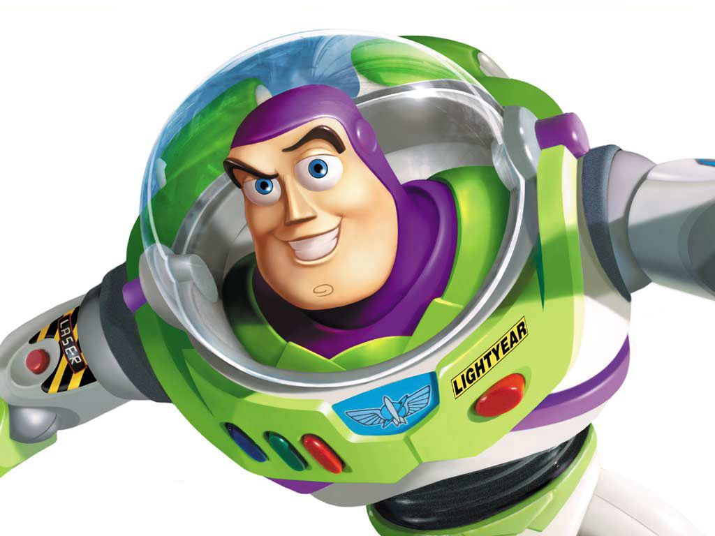 Buzz Lightyear Closeup Top View Wallpaper 1024x768