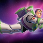 Buzz Lightyear Flying In Space Wallpaper
