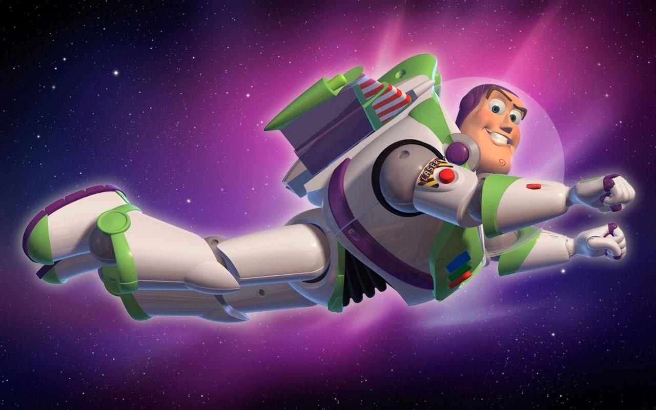 Buzz Lightyear Flying In Space Wallpaper 1280x800