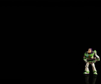 Buzz Lightyear Small Black Background Wallpaper