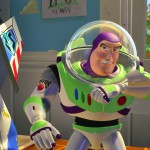 Buzz Lightyear Speaking On Wrist Radio Wallpaper