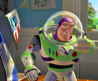 Buzz Lightyear Speaking On Wrist Radio Wallpaper