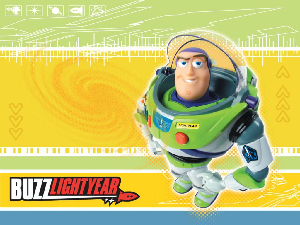 Buzz Lightyear Standing Portrait Wallpaper 1024x768