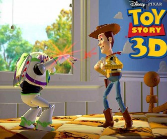 Buzz Points Laser To Woody Wallpaper