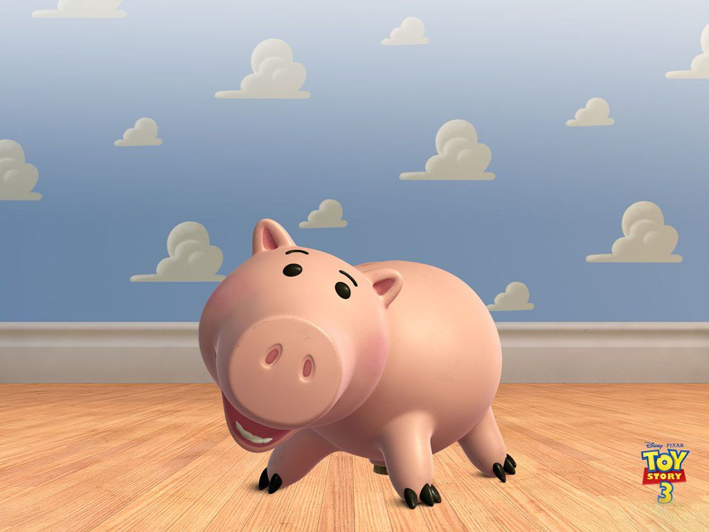 Hamm Portrait Cloud Wall Wallpaper 1024 768 Toy Story Wallpapers