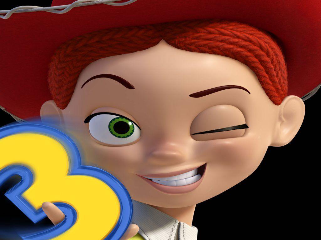 Jessie Closeup Wink Wallpaper 1024x768