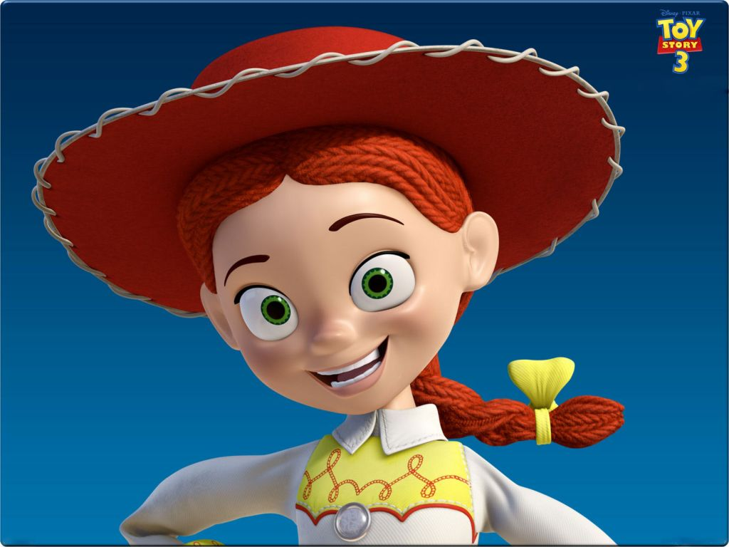Jessie Headshot Toy Story 3 Wallpaper 1024x768