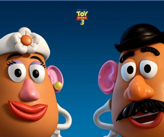 Mr And Mrs Potatohead Headshots Wallpaper