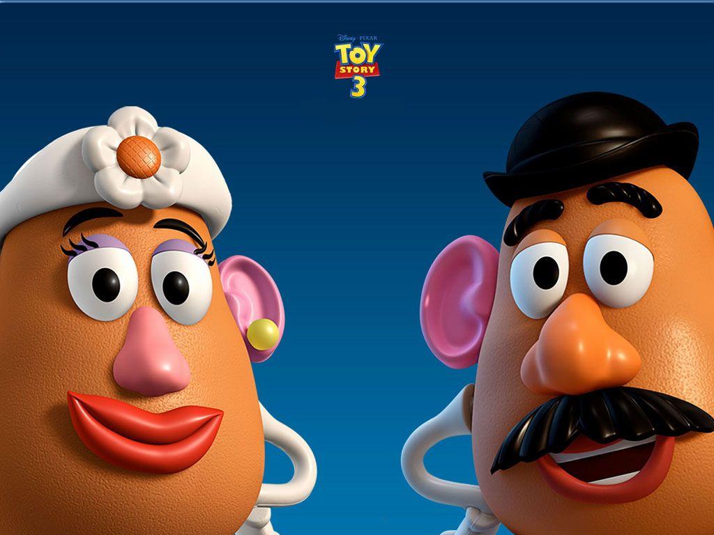 Mr And Mrs Potatohead Headshots Wallpaper 1024x768