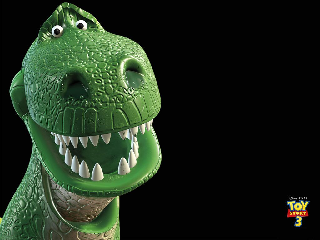 Rex Headshot Toy Story 3 Wallpaper 1024x768