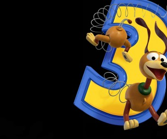 Slinky Dog Caught In Number 3 Wallpaper