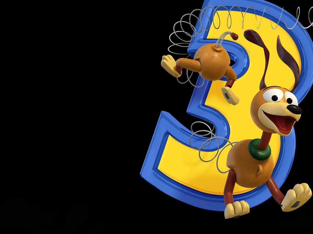 Slinky Dog Caught In Number 3 Wallpaper 1024x768