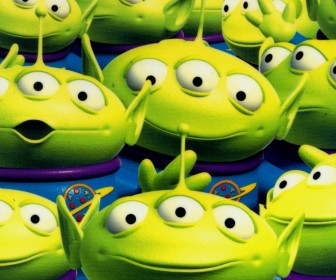Squeeze Toy Aliens Group Wallpaper
