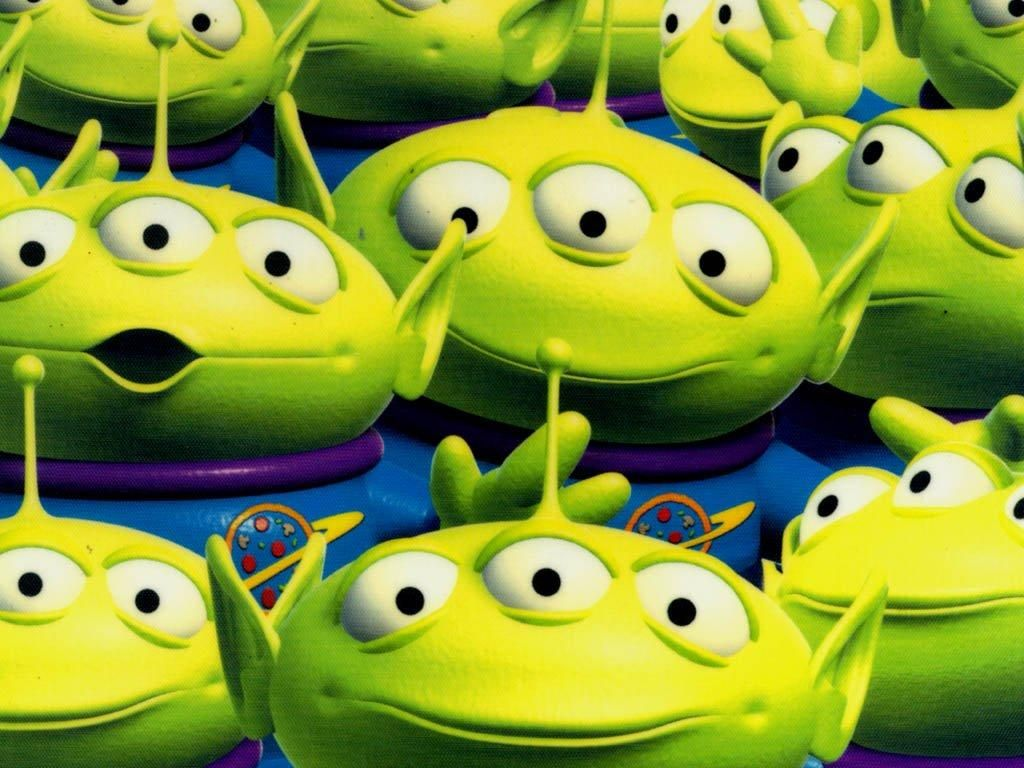 Squeeze Toy Aliens Group Wallpaper 1024x768