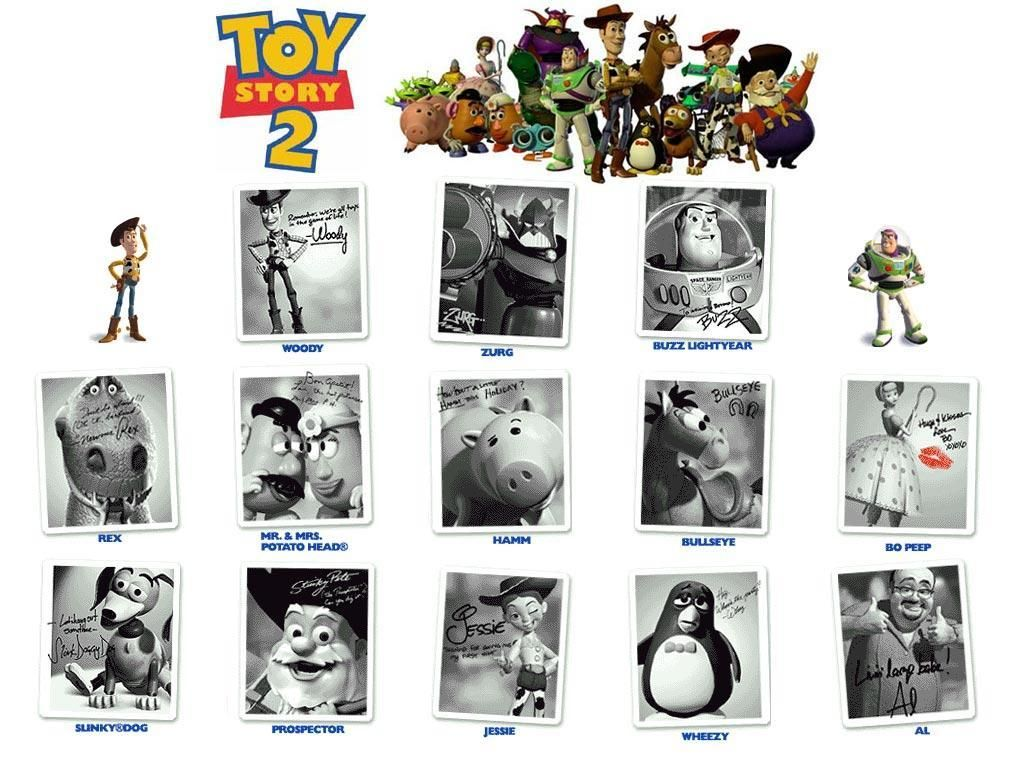 Toy Story 2 Signed Photos Wallpaper 1024x768
