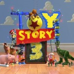 Toy Story 3 Characters Cloud Wall Wallpaper