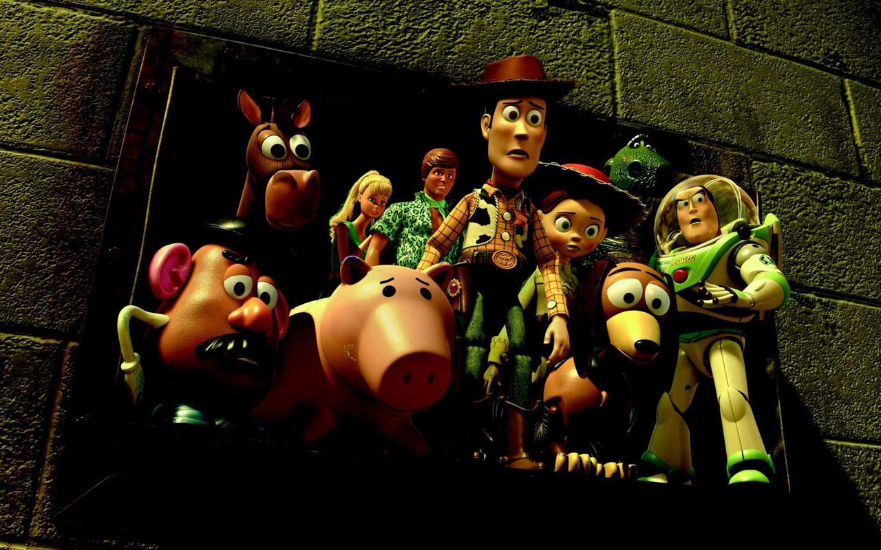 Toy Story 3 Characters Worried Wallpaper 1280x800
