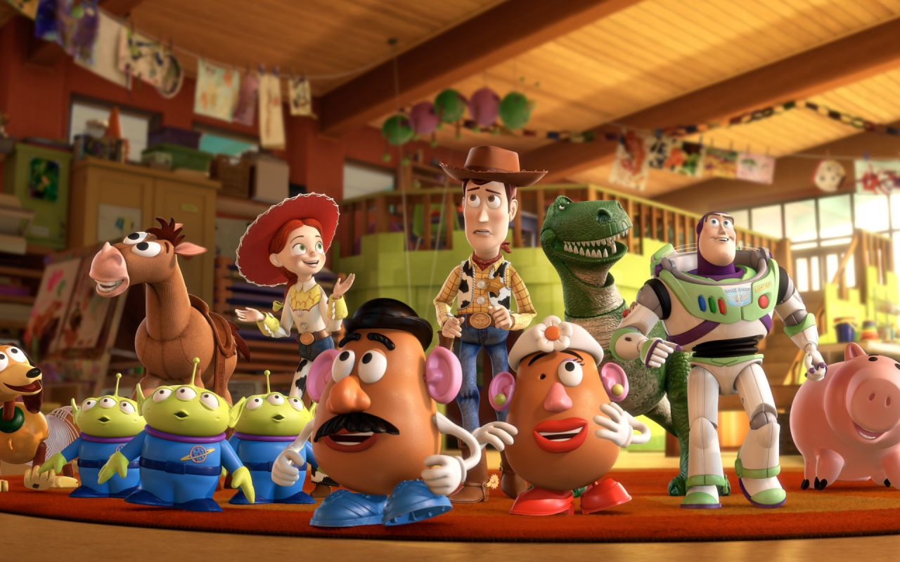 Toy Story 3 Complete Characters Wallpaper 1280x800