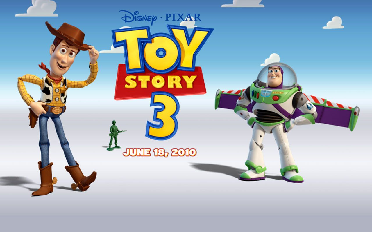 Toy Story 3 Poster Wallpaper 1280x800