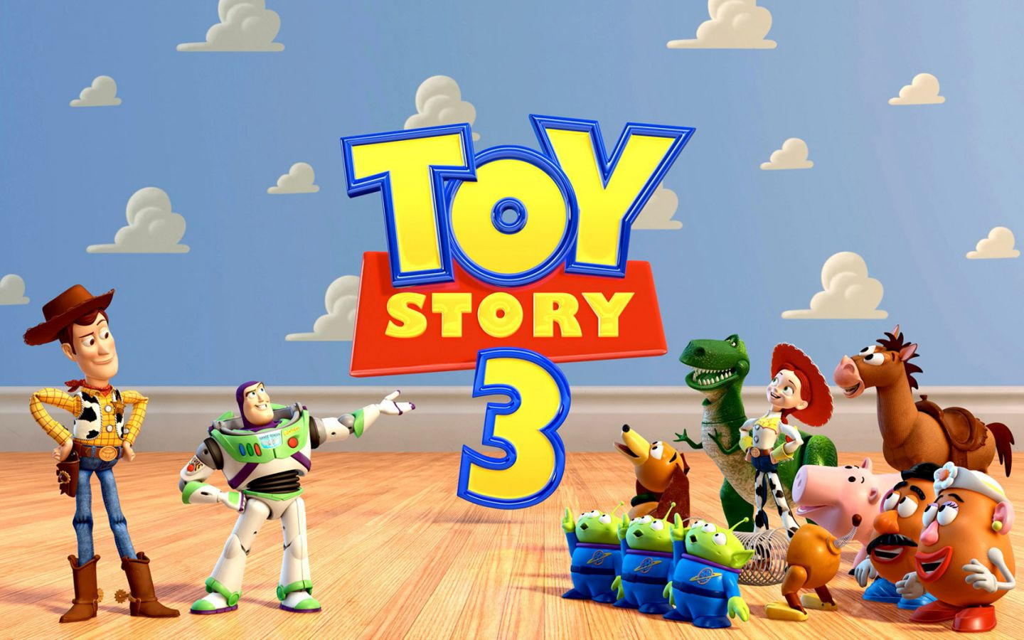 Toy Story 3 Title With Characters Wallpaper 1440x900