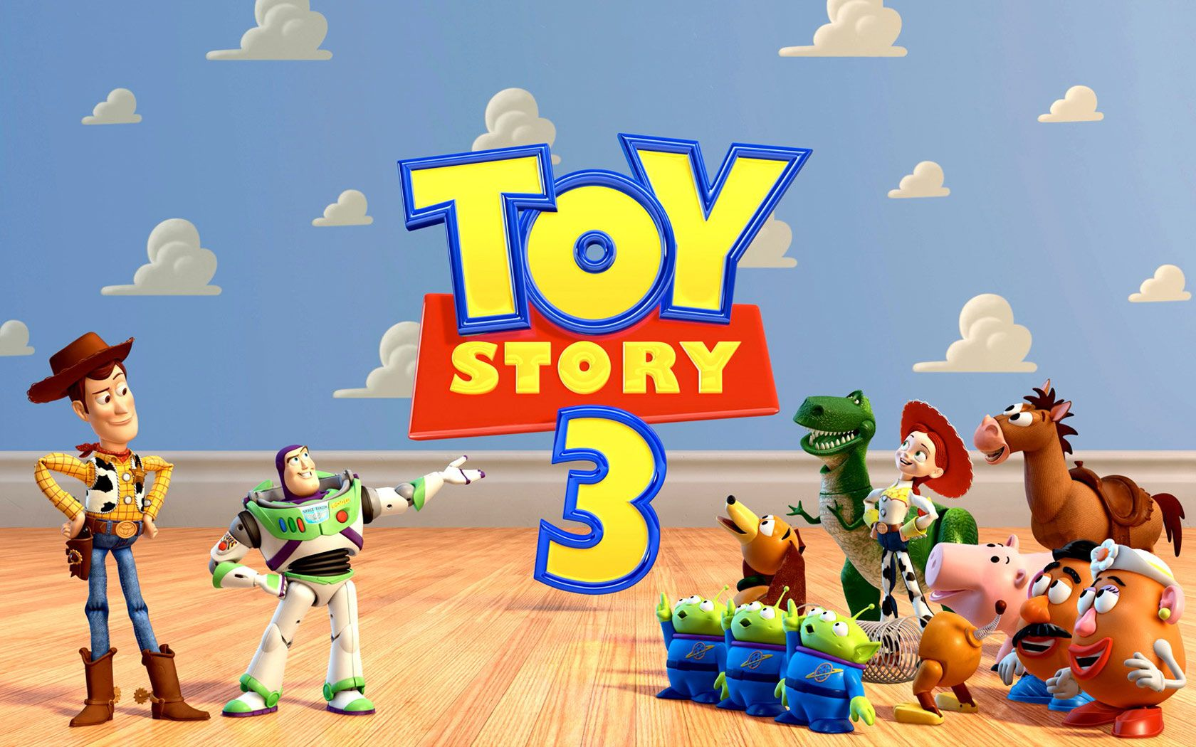 Toy Story 3 Title With Characters Wallpaper 1680x1050