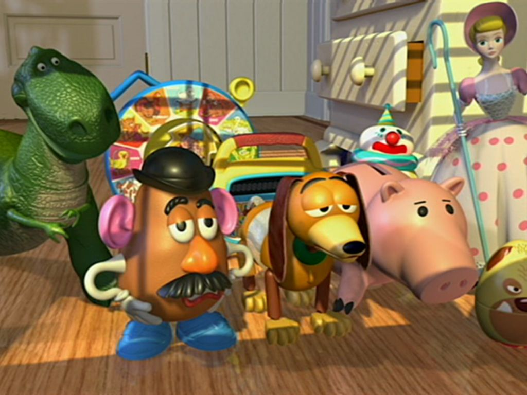 Toy Story Characters Screenshot Wallpaper 1024x768
