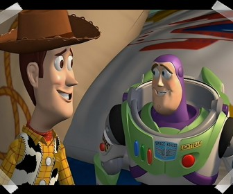 Woody And Buzz Taped Picture Wallpaper