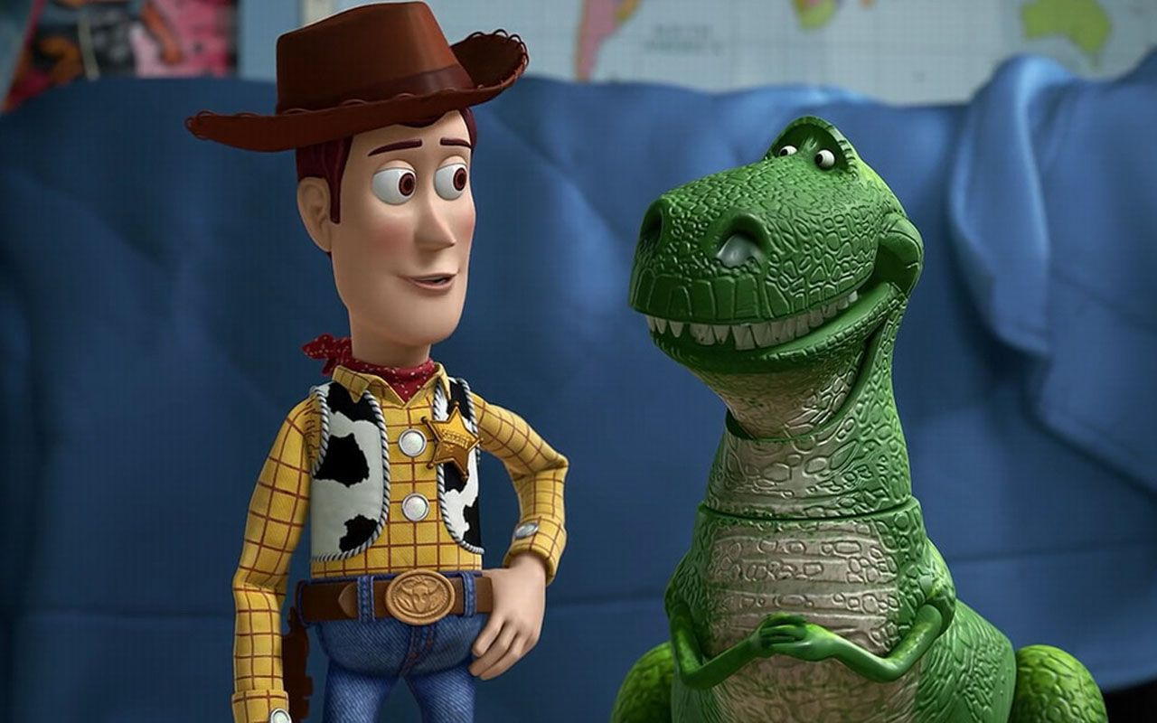 Woody And Rex Talking Wallpaper 1280×800 - Toy Story Wallpapers