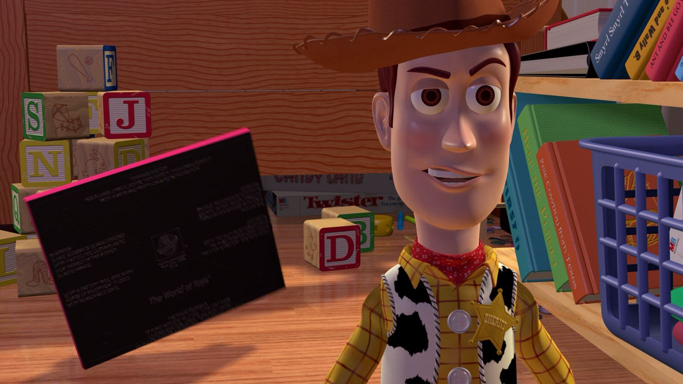 Woody Closeup Grin Wallpaper 1366x768