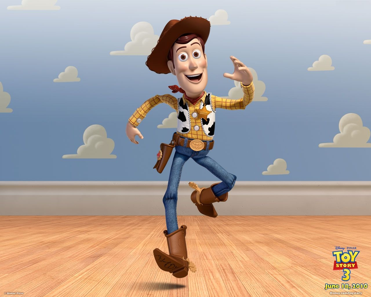 woody portrait cloud wall wallpaper 1280 1024 toy story